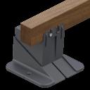 Adjustable pedestals for decking tiles  Spiral Series 10-30mm  Standard Series 30-420mm  Max Series 45-950mm Adjustable pedestals for decking joists