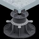 Adjustable pedestals for decking tiles