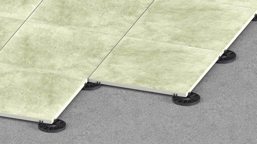 podstawki tarasowe stałej wysokości podpłytami ceramicznymi