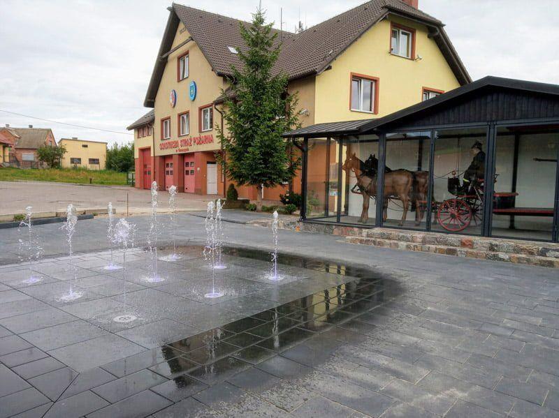 regulacja wysokości podkonstrukcji fontanny jest prosta dzięki wspornikom regulowanym