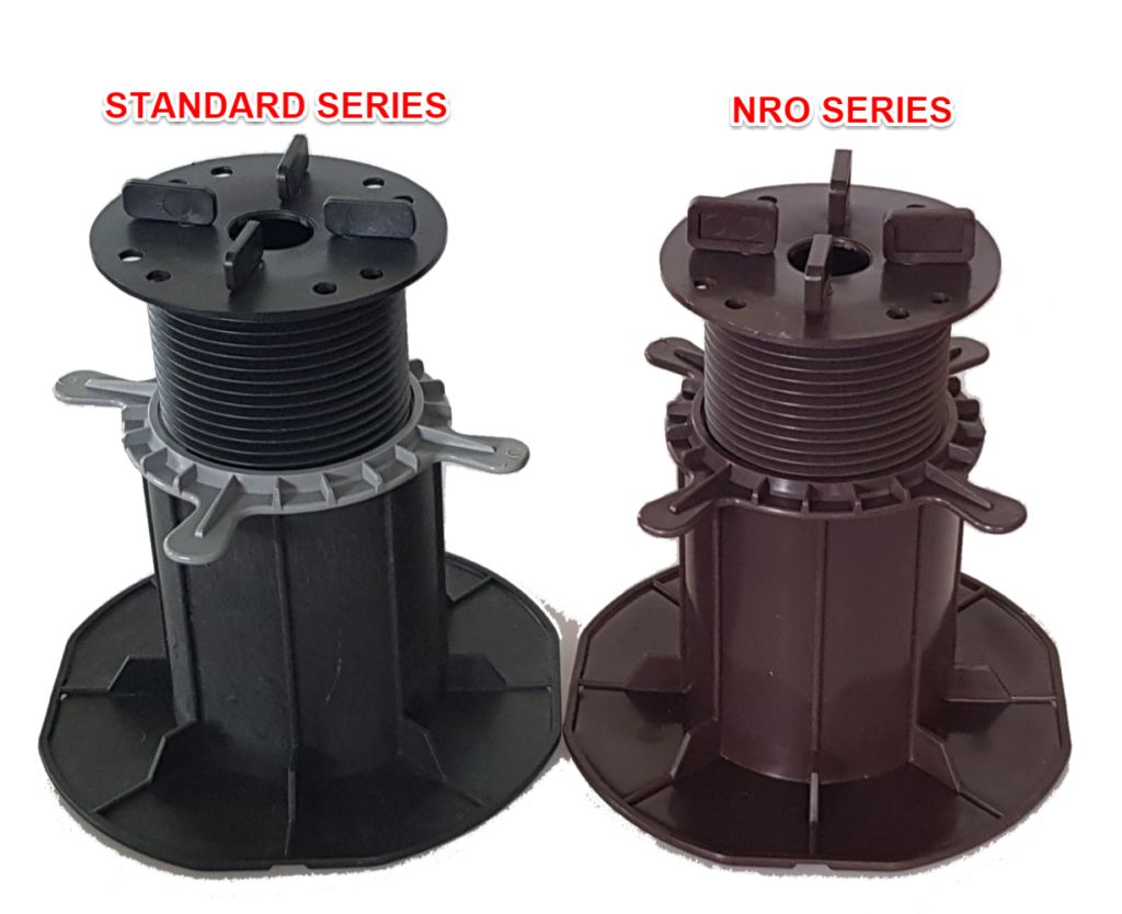 wsporniki regulowane serii NRO różnią się wizualnie odserii standardowych