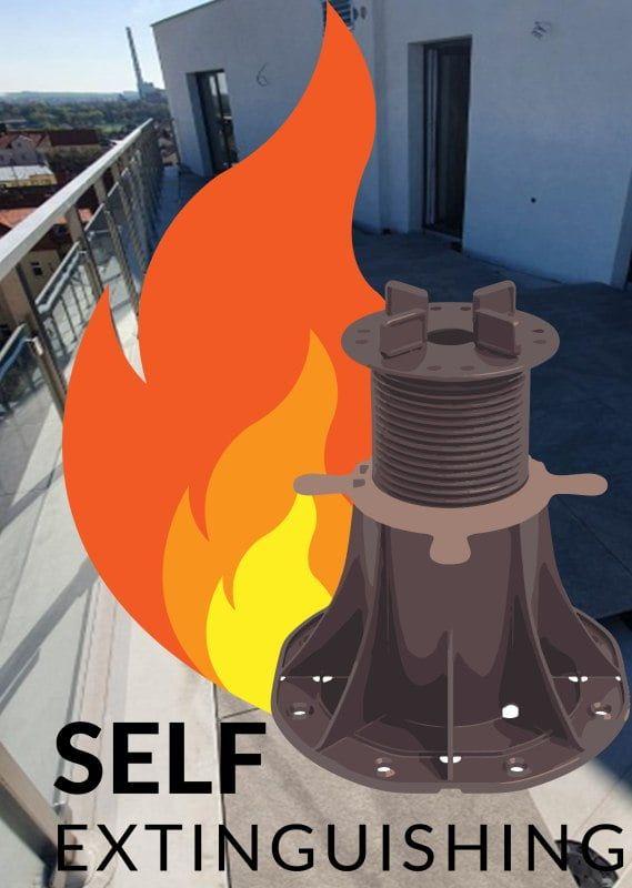 regulowany wspornik tarasowy w klasie nierozprzestrzeniania ognia NRO