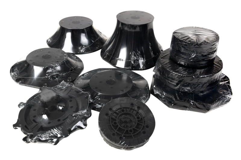 wsporniki regulowane DD PEDESTALS pakowane jako pojedyncze sztuki
