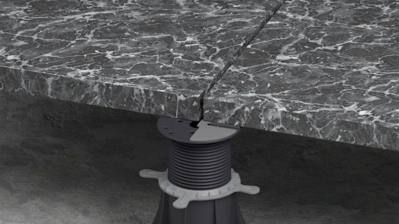 gumowa podkładka pod płyty tarasowe na wspornikach regulowanych