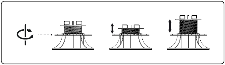 how to change the height of the adjustable terrace pedestal
