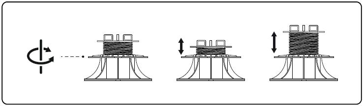 jak zmieniać wysokosć regulowanego wspornika tarasowego