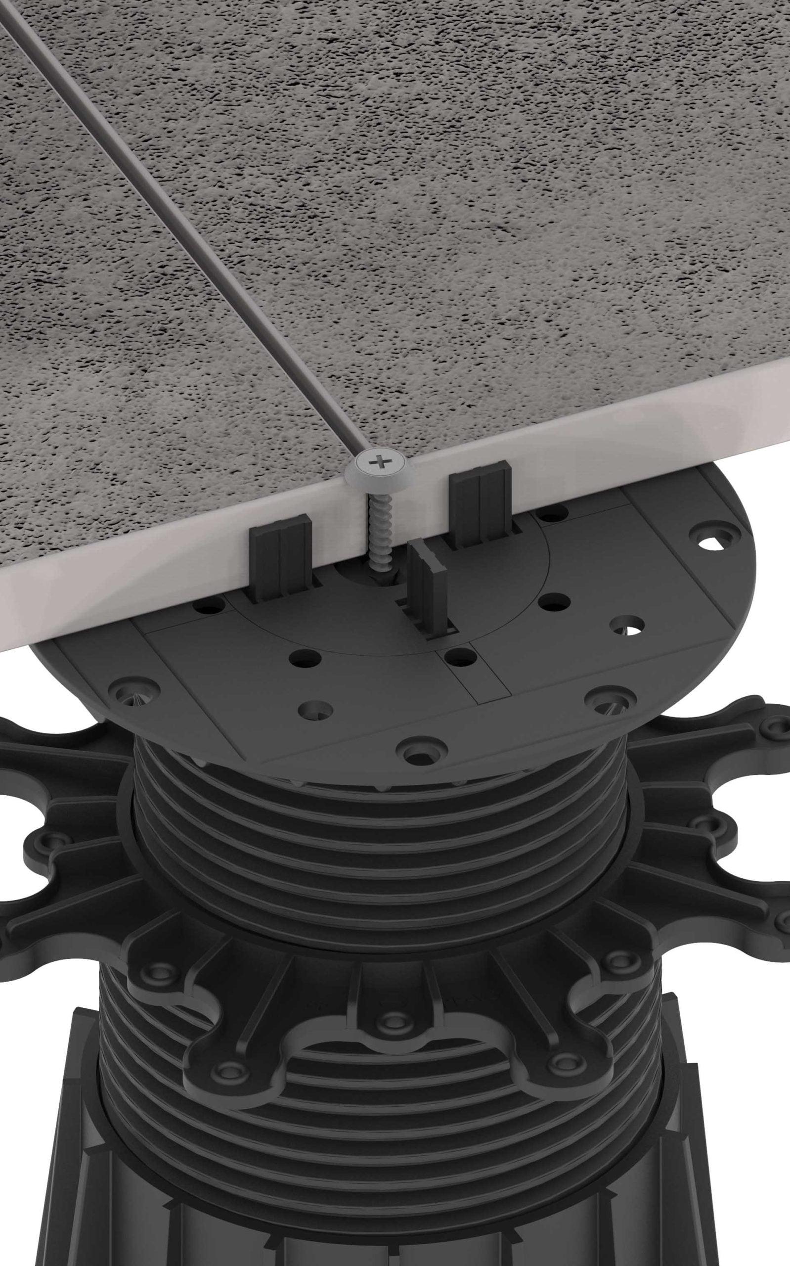 system zabezpieczenia tarasu wentylowanego przed wiatrem
