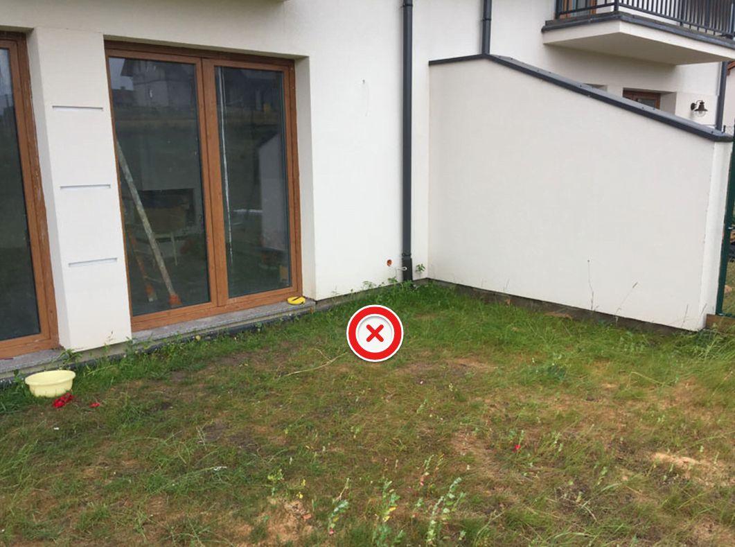 auf einem solchen Untergrund kann die Terrasse nicht auf den Stelzlager installiert werden