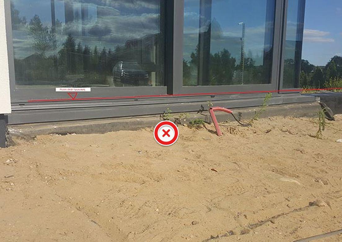 mal terreno para la terraza sobre soportes regulables