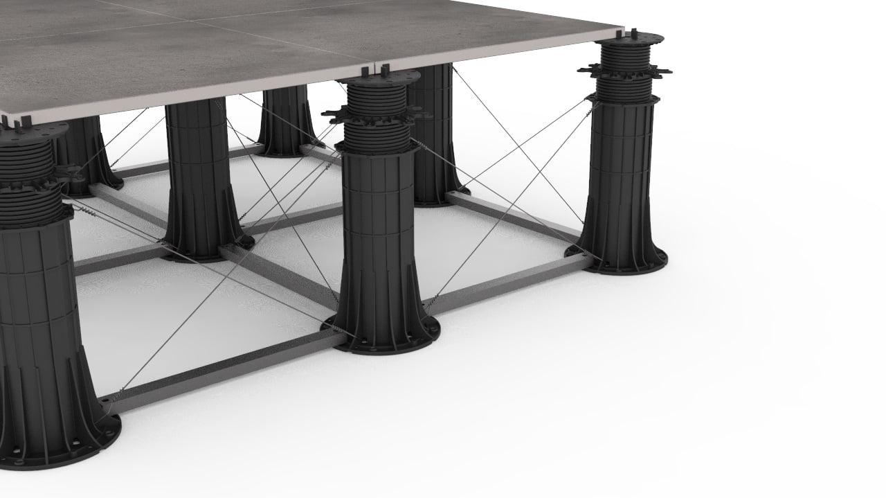 wie man die Struktur von verstellbaren Stelzlager richtig aussteift