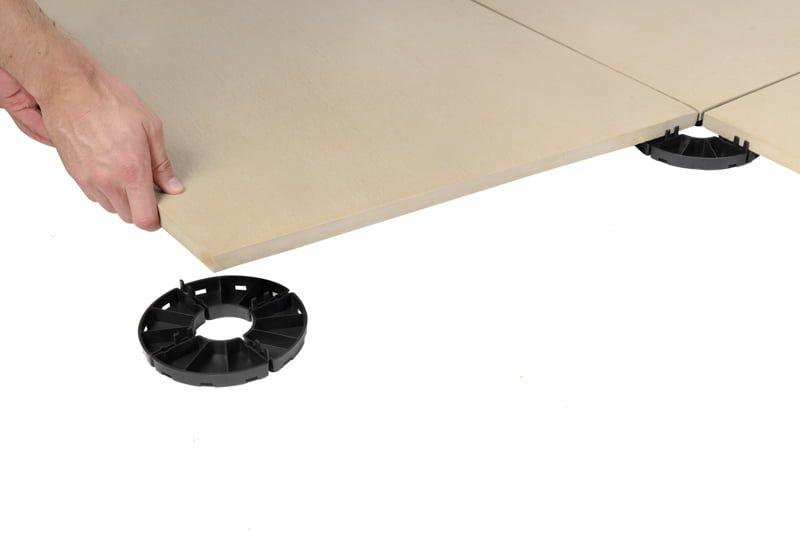 belüfteten Terrasse auf Plattenlager für Platten